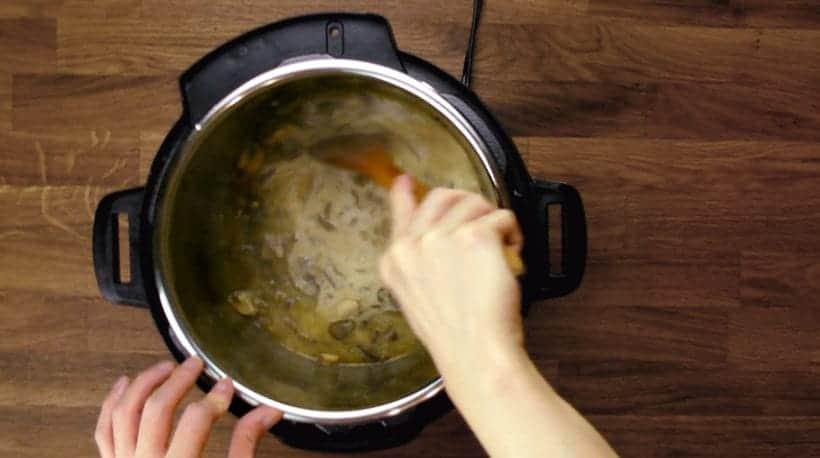 Instant Pot Pork Chops in HK Mushroom Gravy Recipe: Homemade Mushroom Gravy