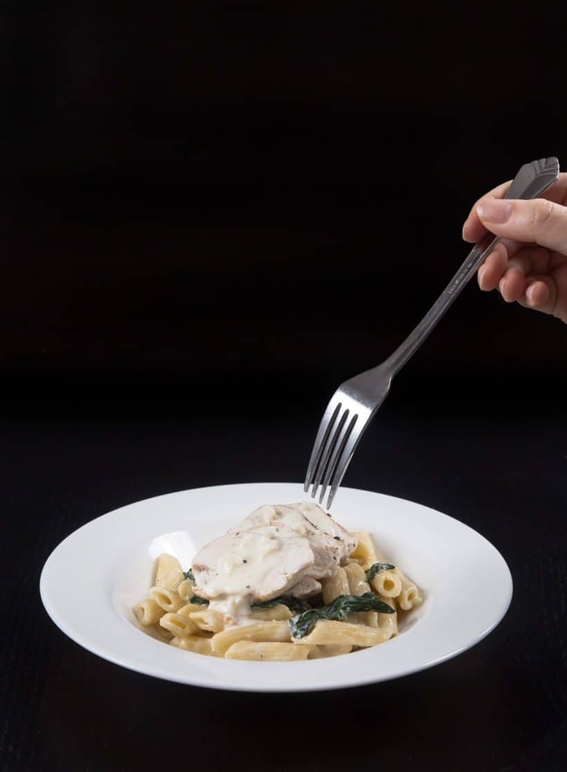 Instant Pot Spinach Chicken Alfredo Pasta Pressure Cooker