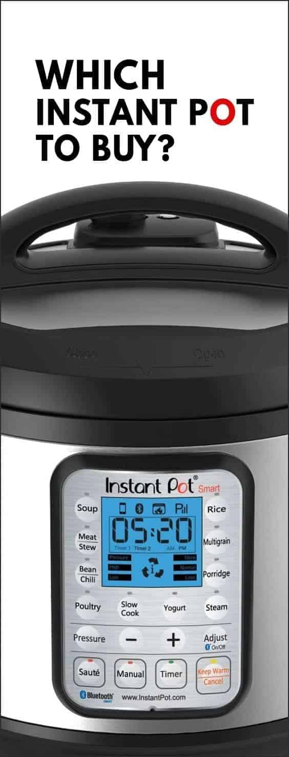 Overwhelmed with Instant Pot Electric Pressure Cooker options? Answer this short quiz to decide Which Instant Pot to Buy & Which Instant Pot is the best!