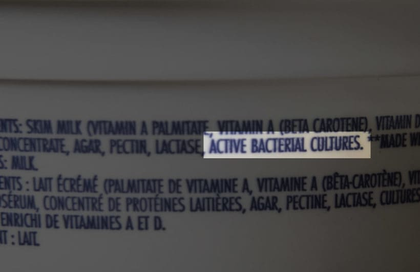 Active Bacterial Cultures