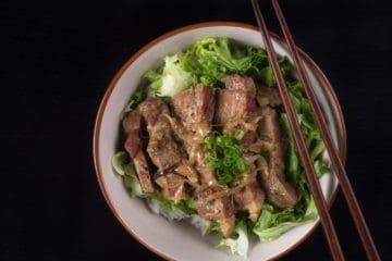 Easy Pressure Cooker Ginger Pork Shogayaki Recipe (Pot-in-Pot): Make this beloved Japanese comfort food. You'll love the rich sweet, savory Ginger Garlic Sauce!