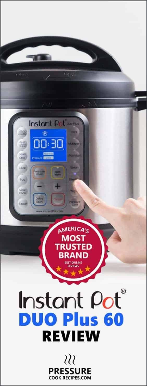 Instant Pot Review: Instant Pot DUO Plus 60 Electric Pressure Cooker hands on review with photos and recommendations.