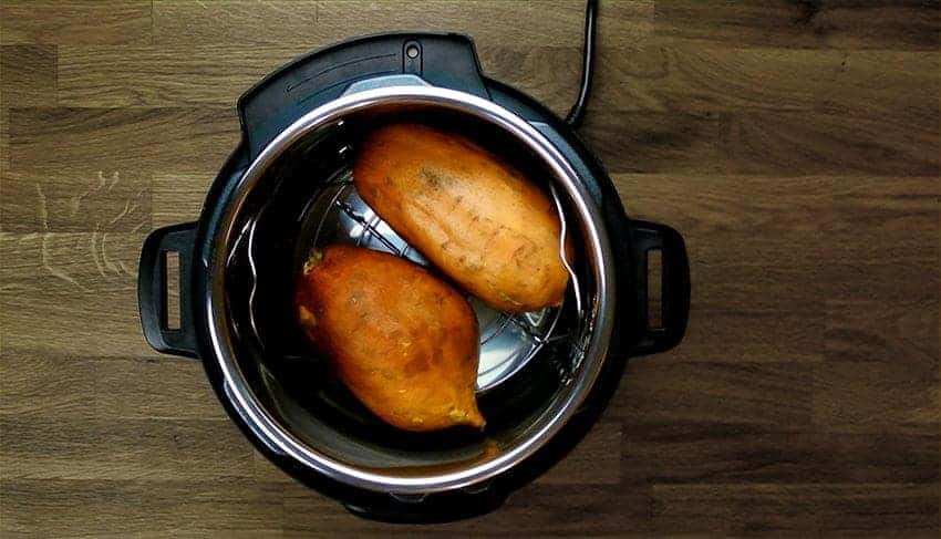 Instant Pot Sweet Potato Recipe (Pressure Cooker Sweet Potatoes): Step-by-step tutorial on how to make sweet potatoes. Naturally sweet, healthy nutrients-packed, filling whole sweet potato snack.