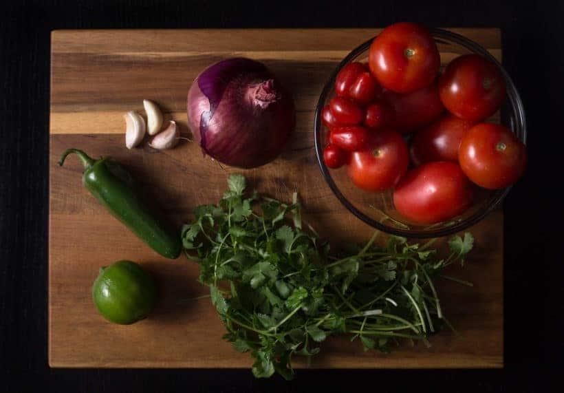 Mexican Homemade Salsa Recipe (Pico de Gallo) Ingredients