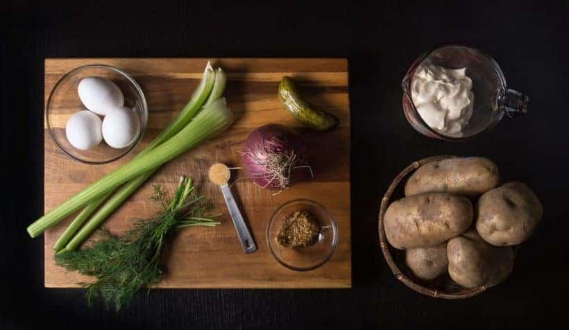 Easy Creamy Instant Pot Potato Salad Recipe (Pressure Cooker Potato Salad) Ingredients