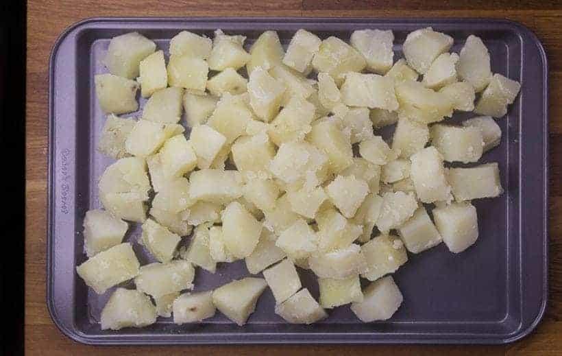 Easy Creamy Instant Pot Potato Salad Recipe (Pressure Cooker Potato Salad): pressure cooked diced potatoes