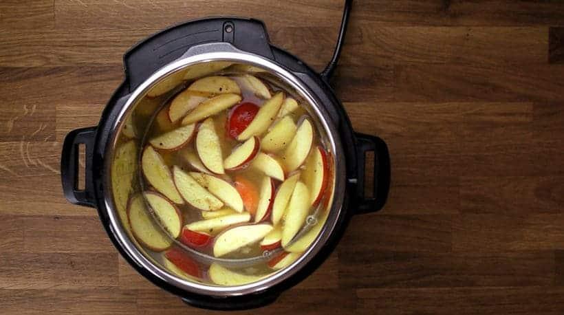 Healthy Hearty Instant Pot Oatmeal Recipe (Pressure Cooker Oatmeal): apple cinnamon oatmeal