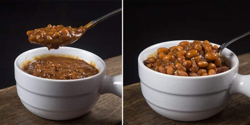 Make Smokey Instant Pot Baked Beans Recipe (Pressure Cooker Baked Beans): overnight soaking method vs. quick soaking method for navy beans