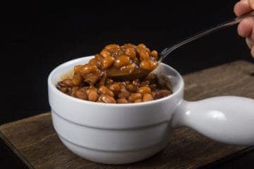 Make Smokey Instant Pot Baked Beans Recipe (Pressure Cooker Baked Beans) Homemade Baked Beans from Scratch in deliciously thick sticky sauce. Perfect for your next BBQ, picnics, potlucks, or dinners.