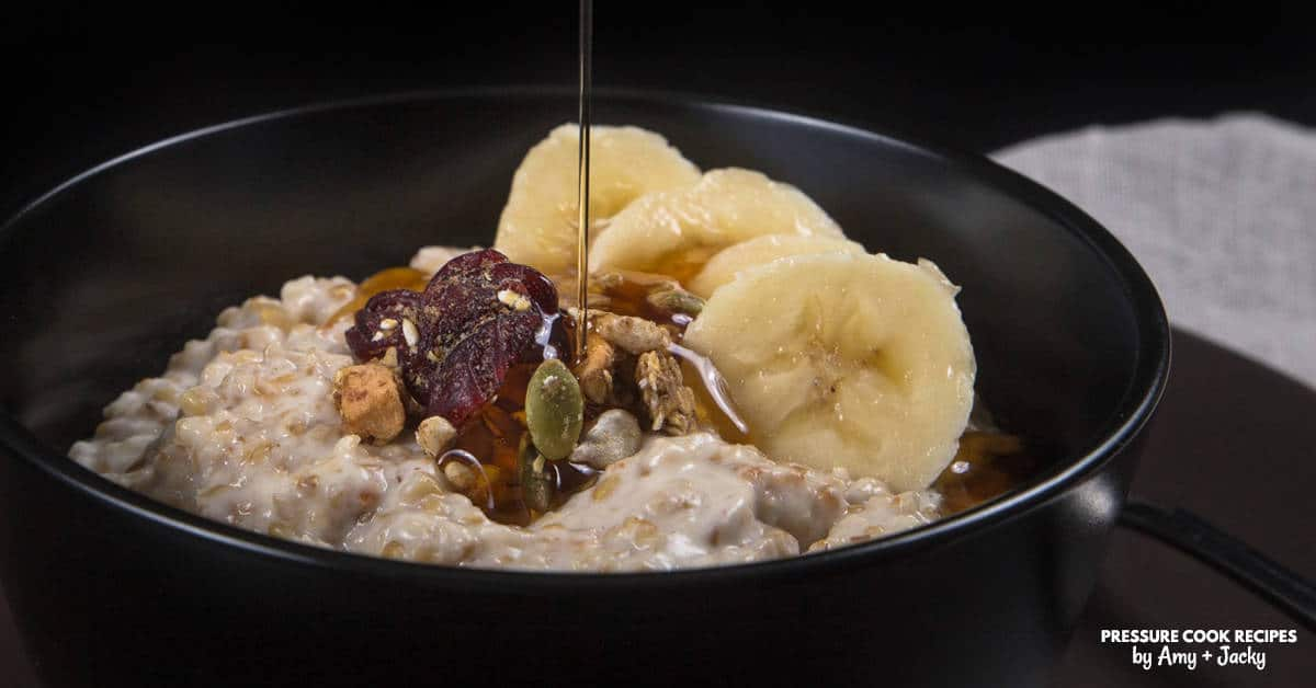 Instant Pot Coconut Oatmeal Recipe Pressure Cooker Oatmeal
