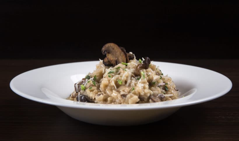 Cook this Easy Delizioso Instant Pot Mushroom Risotto Recipe (Pressure Cooker Risotto). Creamy, luxurious, cheesy risotto with crunchy umami mushrooms mixed in al dente arborio rice. So deliciously comforting & satisfying to eat!