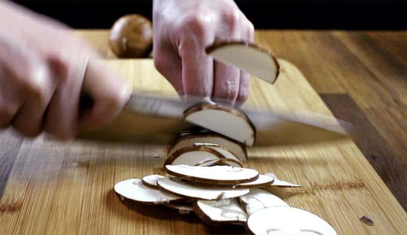 Instant Pot Mushroom Risotto Recipe (Pressure Cooker Mushroom Risotto): Prep mushrooms