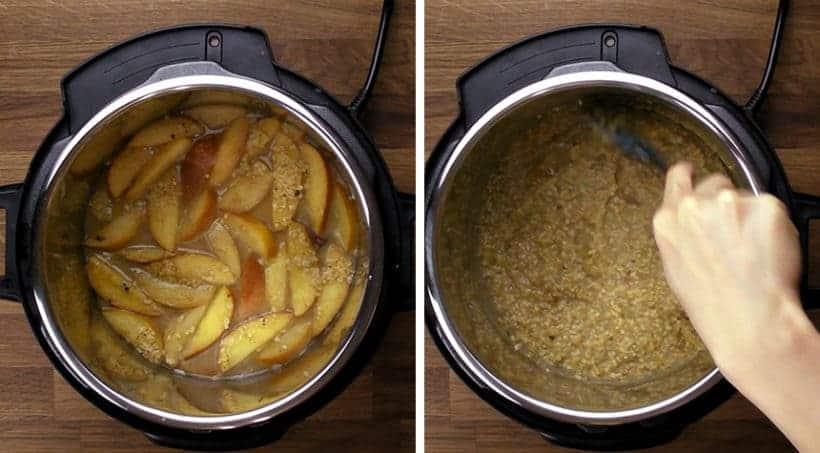 Healthy Hearty Instant Pot Oatmeal Recipe (Pressure Cooker Oatmeal): pressure cooked oatmeal