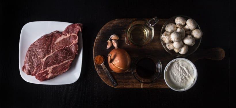 Make Umami Instant Pot Beef Stroganoff Recipe Ingredients (Pressure Cooker Beef Stroganoff)