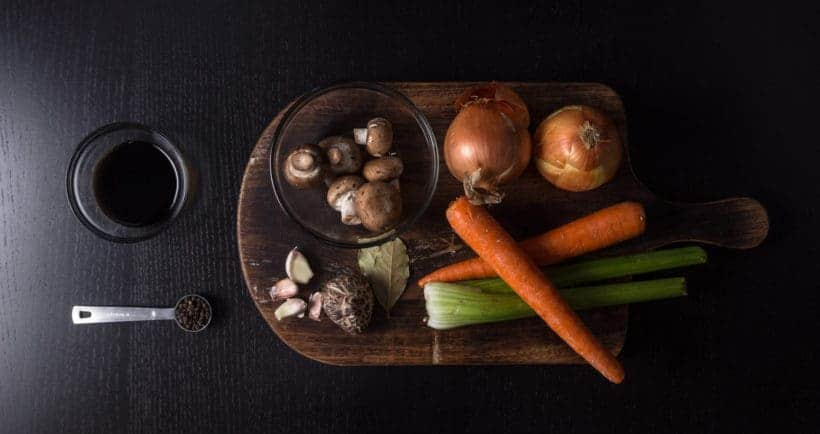 Make Healthy Instant Pot Vegetable Stock Recipe Ingredients (Pressure Cooker Vegetable Stock)