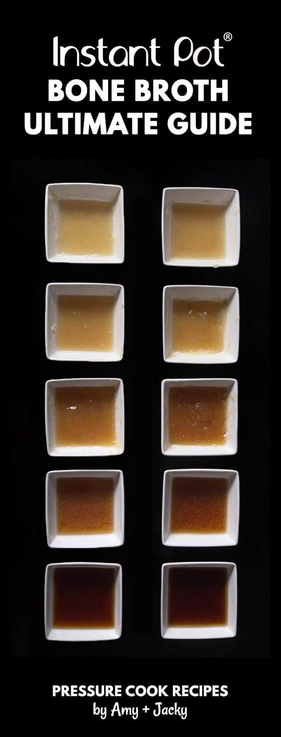 Learn how to make Nutrient RichInstant Pot Bone Broth Recipe (Pressure Cooker Bone Broth) from our 10+ Experiments! Super easy without simmering for hours.