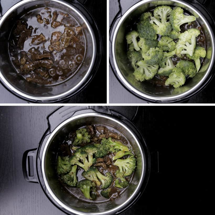 Instant Pot Beef and Broccoli Recipe (Pressure Cooker Beef and Broccoli): cook broccoli in Instant Pot Pressure Cooker