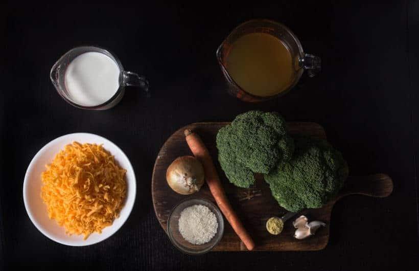 Instant Pot Broccoli Cheese Soup Recipe (Pressure Cooker Broccoli Cheese Soup) Ingredients
