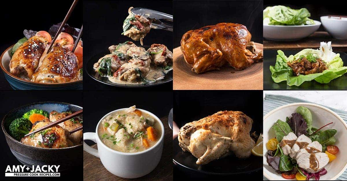 29 Easy Instant Pot Chicken Recipes: Instant Pot Whole Chicken, Instant Pot Chicken Breasts, Instant Pot Chicken Thighs, Instant Pot Chicken Wings, Instant Pot Chicken Legs, Instant Pot Chicken and Rice, Instant Pot Chicken and Potatoes, Healthy Instant Pot Chicken Recipes. #instantpot #instantpotrecipes #pressurecooker #recipes #chicken #easy