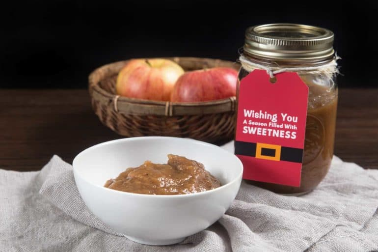 Instant Pot Apple Butter Recipe (Pressure Cooker Apple Butter): Learn how to make Sugar Free Spiced Apple Butter. Deliciously warm homemade apple butter with no added sugar. Perfect DIY Instant Pot Christmas Gift!