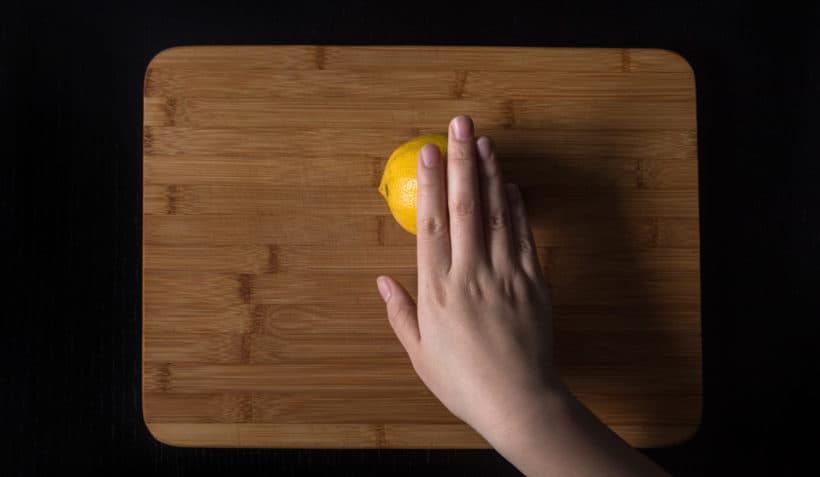 Instant Pot Lemon Chicken Recipe (Pressure Cooker Lemon Chicken): roll the lemon on chopping board to soften and release the juice before slicing