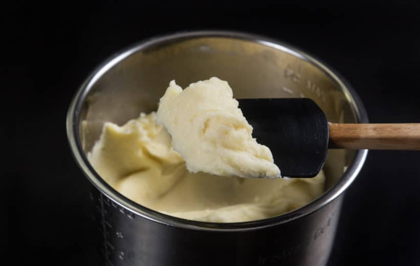 Michelin-Star Inspired Instant Pot Mashed Potatoes Recipe: final consistency of the best homemade mashed potatoes. Creamy smooth, fluffy and buttery spoonful of heaven.