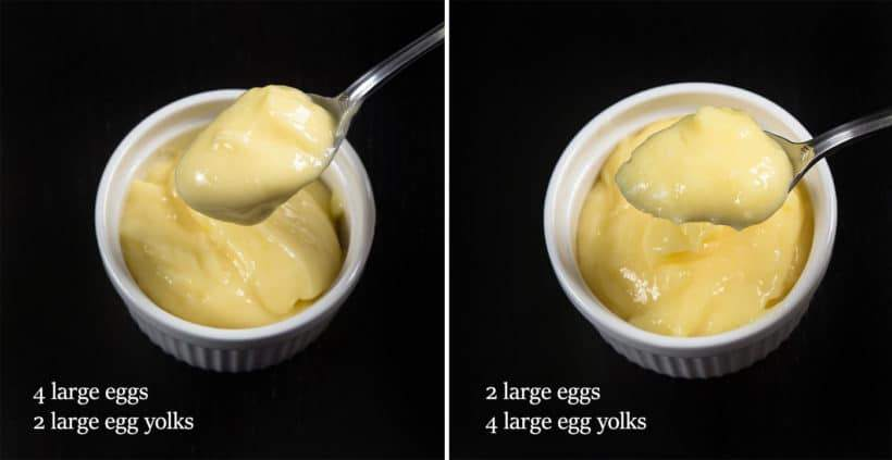 Instant Pot Lemon Curd Recipe (Pressure Cooker Lemon Curd): compare results between using different ratios of eggs to egg yolks.