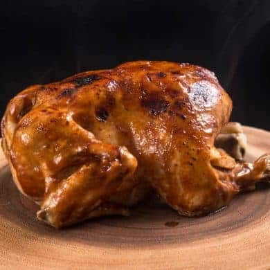 Instant Pot BBQ Whole Chicken Recipe (Pressure Cooker Whole Chicken): Make this4-ingredient Life-ChangingInstant Pot Whole Chicken in3 Easy Steps! Tender, juicy chicken glazed with caramelized BBQ sauce. Super easy weeknight meal. #instantpot #instantpotrecipes #pressurecooker #pressurecookerrecipes #chicken #chickenrecipes #wholechicken