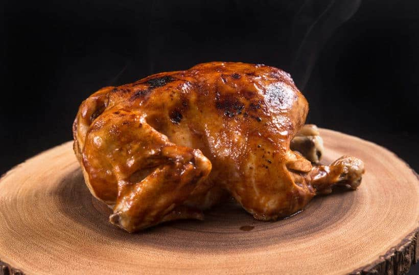 Instant Pot BBQ Whole Chicken Recipe (Pressure Cooker Whole Chicken): Make this 4-ingredient Game-Changing Instant Pot Whole Chicken in 3 Easy Steps! Tender, juicy chicken glazed with caramelized BBQ sauce. Super easy weeknight meal. #instantpot #instantpotrecipes #pressurecooker #pressurecookerrecipes #chicken #chickenrecipes #wholechicken