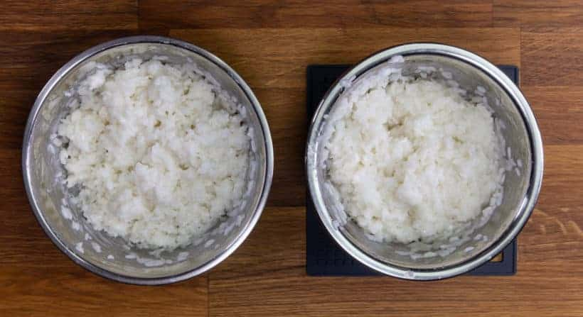 Instant Pot Mango Sticky Rice Recipe (Pressure Cooker Thai Mango Sticky Rice): experiment comparison of different coconut milk to sticky rice ratios