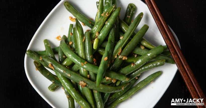 Instant Pot Green Beans Recipe (Pressure Cooker Green Beans): How to cook Green Beans in Instant Pot. Enjoy perfectly cooked fresh green beans or super quick & easy yet deliciously healthy 5-ingredient Stir-Fried Garlic Green Beans! #instantpot #instapot #instantpotrecipes #pressurecooker #beans #vegan #vegetarian #recipes #paleo