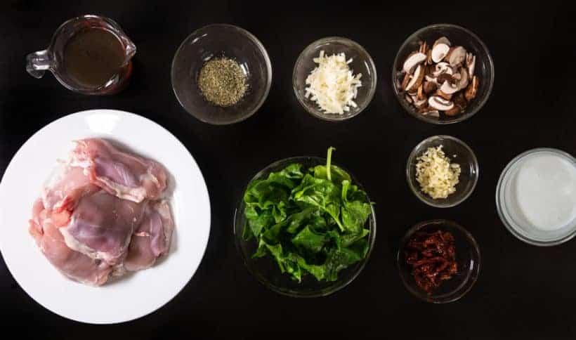 Instant Pot Tuscan Chicken Recipe (Pressure Cooker Tuscan Garlic Chicken) Ingredients