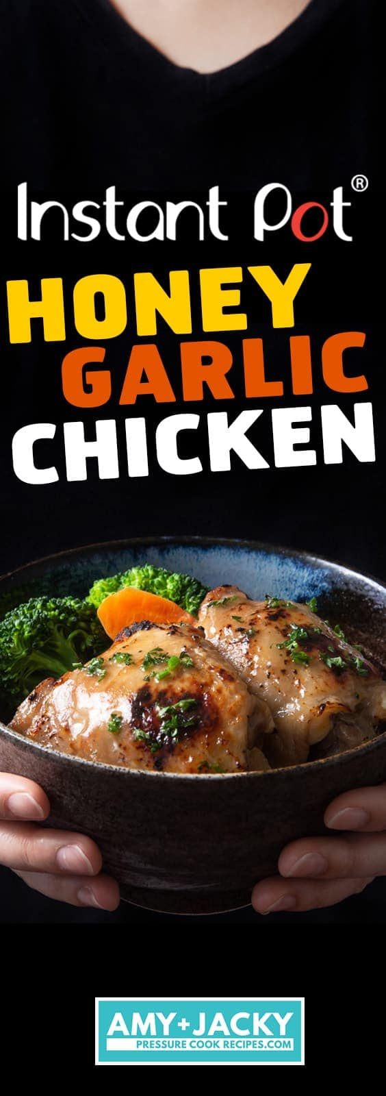 Instant Pot Honey Garlic Chicken Recipe (Pressure Cooker Honey Garlic Chicken): A few simple pantry staples to make tender, juicy chicken glazed with deliciously sweet Honey Garlic Sauce. Great family recipe for busy nights!#instantpot #pressurecooker #chicken #chickenrecipes #recipes