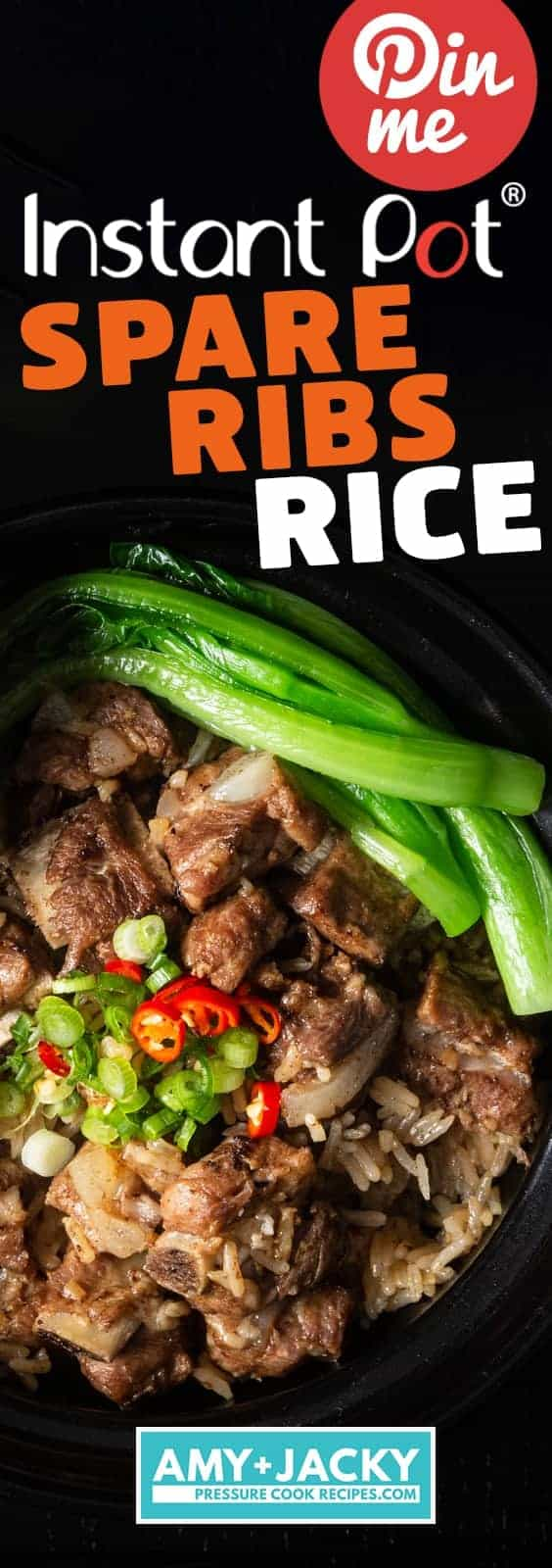 Instant Pot Spare Ribs and Rice (Pressure Cooker) 豉汁排骨飯. Super Easy and Quick One Pot Meal. Deliciously tender black bean sauce spare ribs with flavorful comforting rice. #instantpot #pressurecooker #ribs #chinese #recipes #onepotmeal