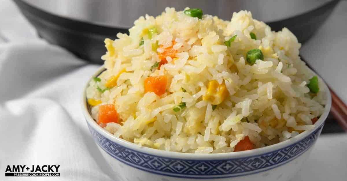how to cook fried rice in pressure cooker