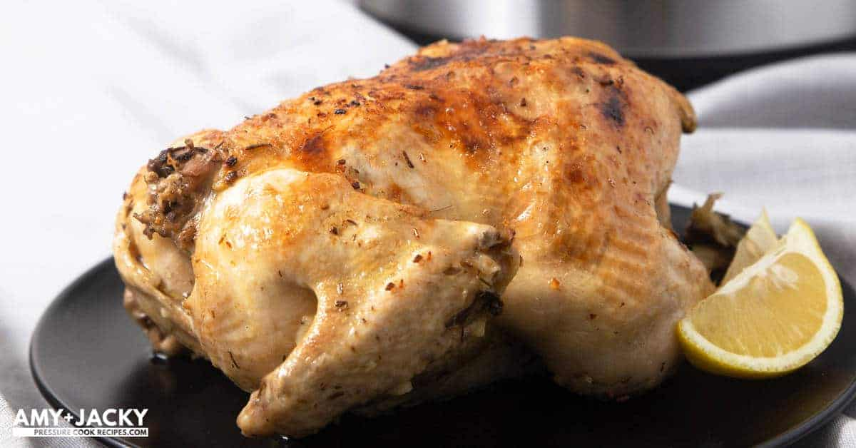 Instant Pot Whole Chicken Rotisserie Style Tested By Amy Jacky