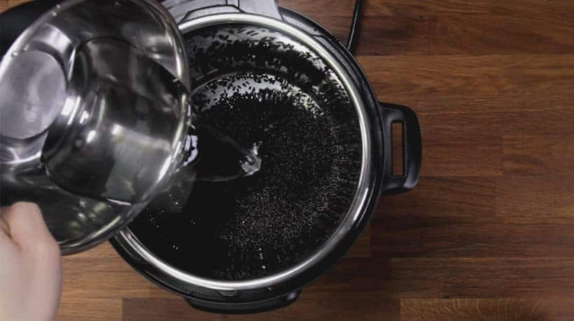 Instant Pot Black Rice (Instant Pot Forbidden Rice): rinse, drain, add water, then pressure cook black rice in Instant Pot Electric Pressure Cooker