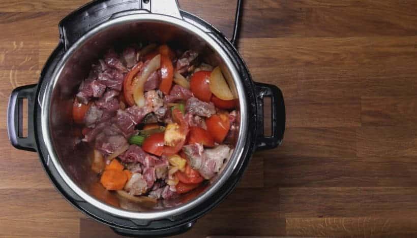 Instant Pot HK Borscht Soup: add beef shank in Instant Pot Pressure Cooker