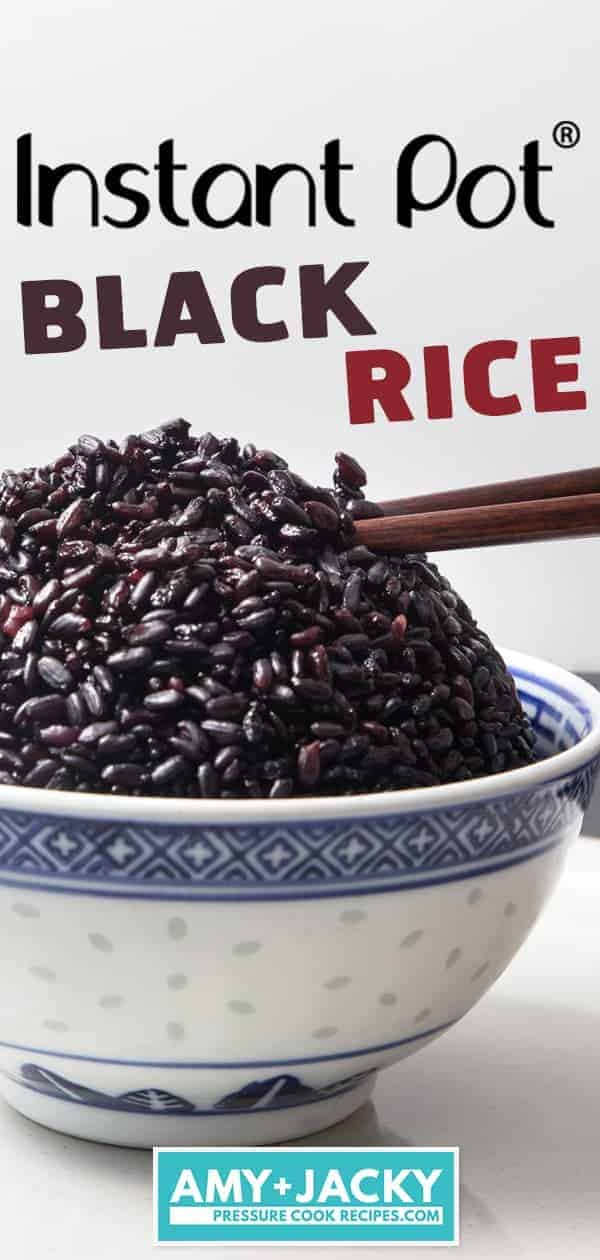 Instant Pot Black Rice | Instant Pot Forbidden Rice | Pressure Cooker Black Rice | Pressure Cooker Forbidden Rice | Instant Pot Rice | Pressure Cooker Rice | Instant Pot Recipes #instantpot #pressurecooker #rice #easy #healthy #recipes