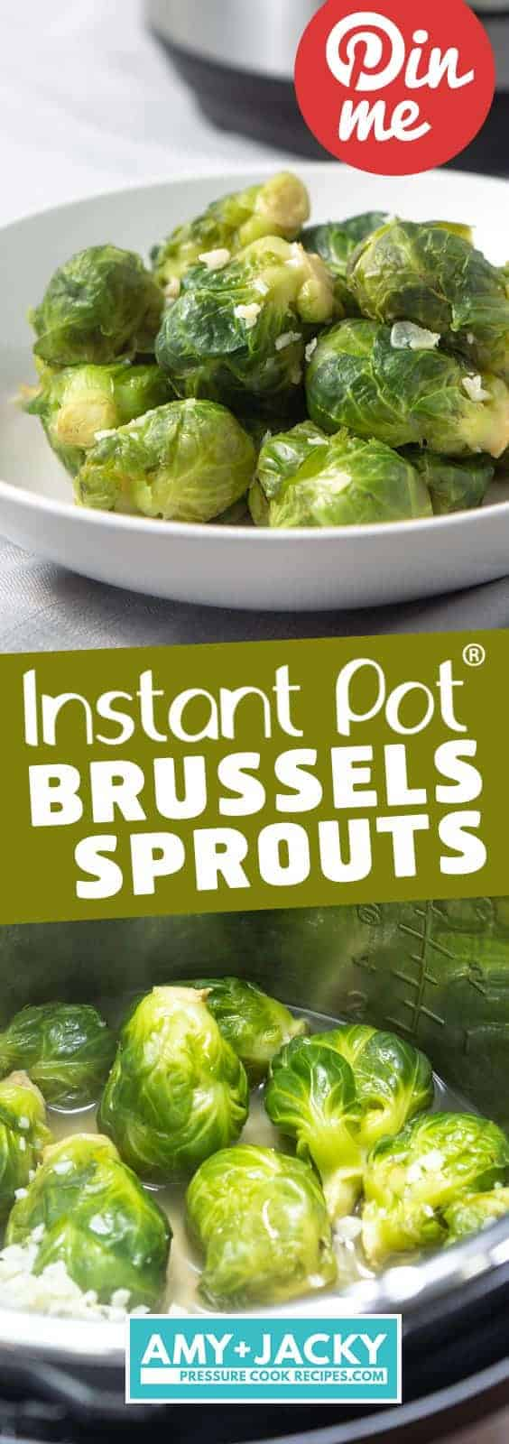 Instant Pot Brussels Sprouts | Pressure Cooker Brussels Sprouts | Instapot Brussel Sprouts | Instant Pot Vegetables | Instant Pot Side Dishes | Instant Pot Vegetarian | Instant Pot Recipes #instantpot #vegetables #easy #healthy #side