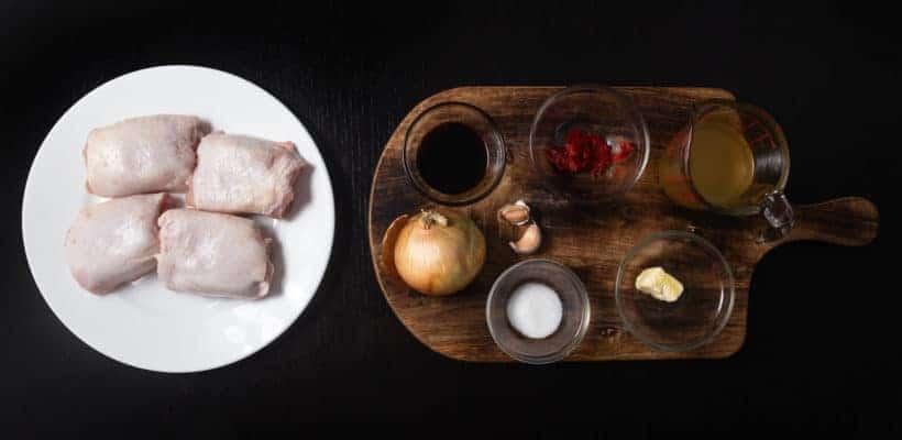 Instant Pot HK Onion Chicken Recipe Ingredients
