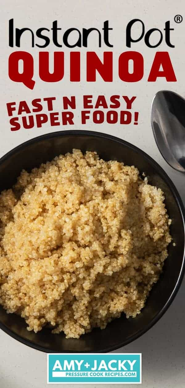 Instant Pot Quinoa | Instapot Quinoa | Pressure Cooker Quinoa | Quinoa Recipes | Instant Pot Rice | Pressure Cooker Rice | Instant Pot Healthy Recipes | Instant Pot Recipes | Pressure Cooker Recipes #instantpot #pressurecooker #rice #side #easy #healthy #vegan