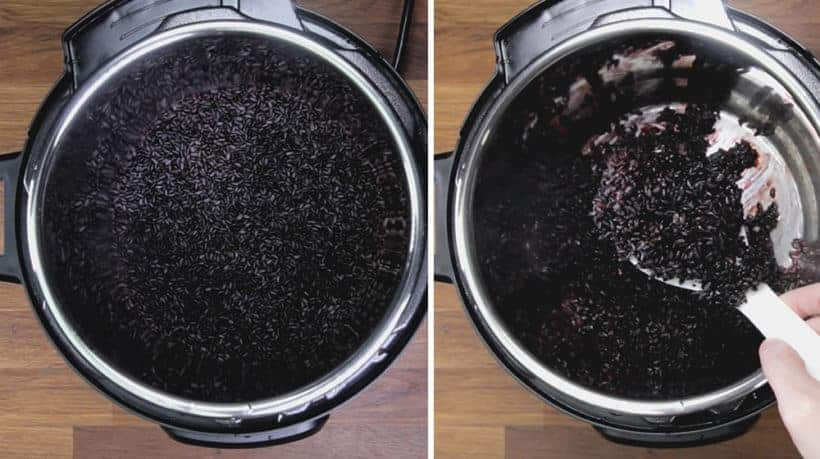 Instant Pot Black Rice (Instant Pot Forbidden Rice): fluff and serve pressure cooker black rice with main dish or add to salad.