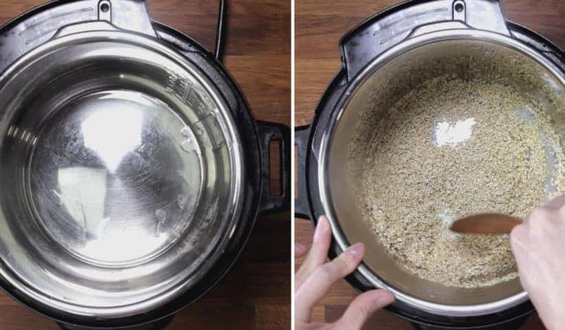Instant Pot Quinoa: toast quinoa in Instant Pot Pressure Cooker until fragrant to maximize flavors and aroma