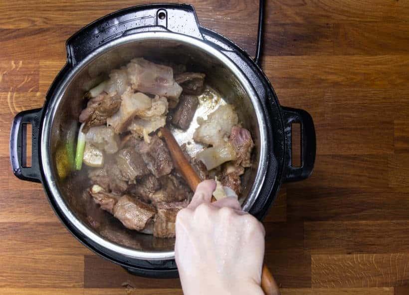 Instant Pot Chinese Beef Stew: deglaze Instant Pot Pressure Cooker