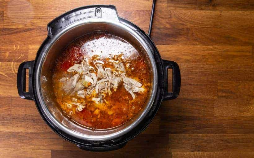 Instant Pot Chicken Soup | Pressure Cooker Chicken Soup: add Shredded Chicken in Instant Pot Pressure Cooker