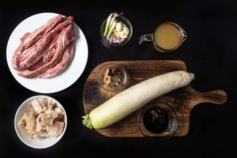 Instant Pot Chinese Beef Stew Ingredients 柱侯蘿蔔牛筋腩