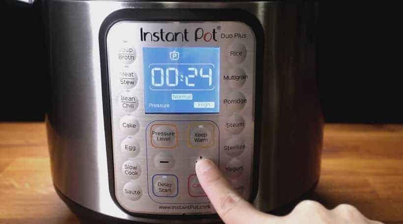 Instant Pot Pressure Cooker High Pressure 24 minutes