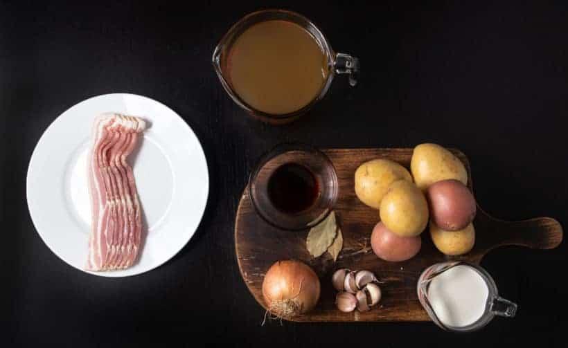 Instant Pot Potato Soup | Pressure Cooker Potato Soup Recipe Ingredients
