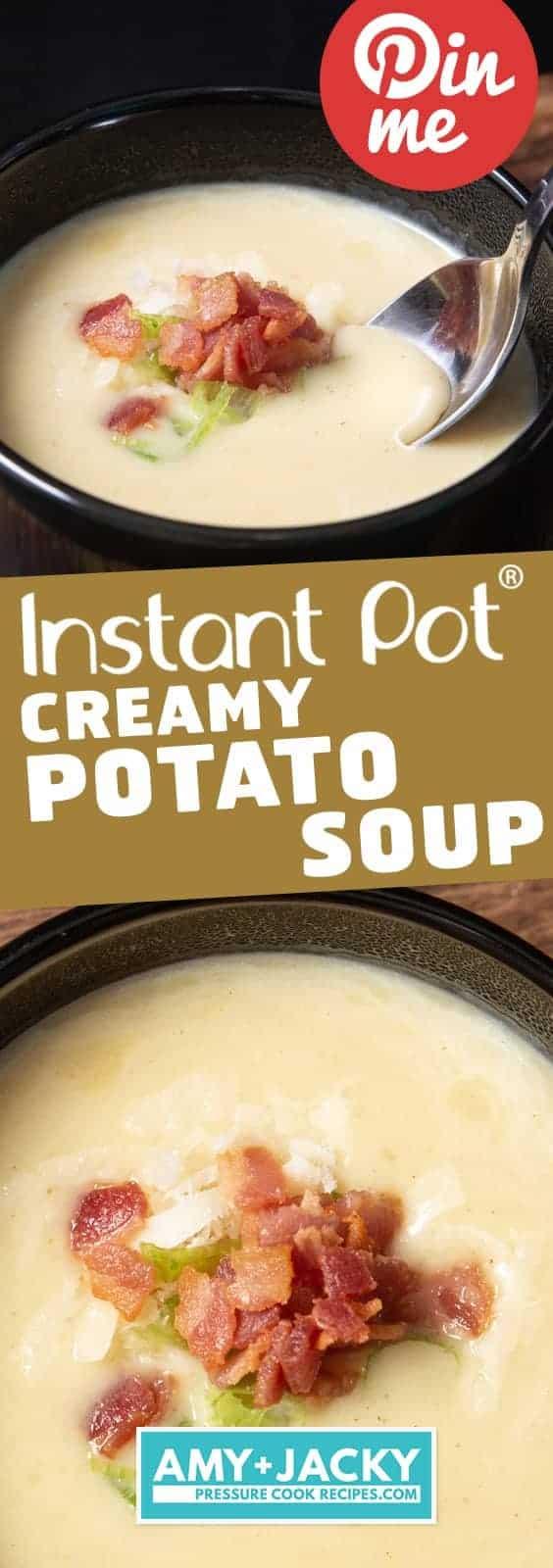Instant Pot Potato Soup | Pressure Cooker Potato Soup | Easy Potato Soup | Loaded Potato Soup | Instant Pot Soup | Instant Pot Potatoes | Instant Pot Recipes | Pressure Cooker Recipes #instantpot #pressurecooker #soup #recipes #potatoes